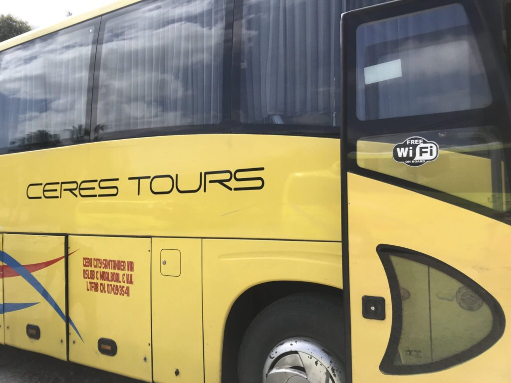 Ceres bus, Dumaguete to Moalboal, Liloan port