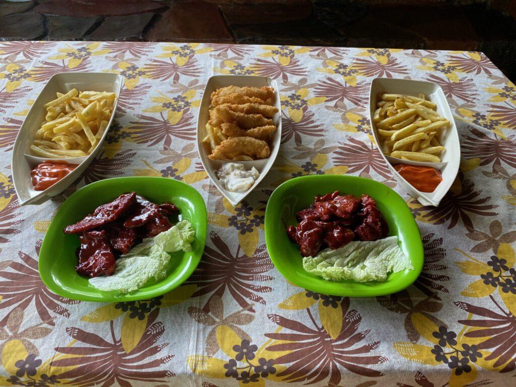 manger, nourriture, Red Rocks, sources d'eaux chaudes, poitrine de porc