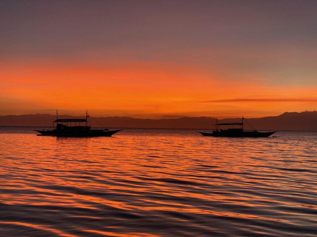 Coucher de soleil, Panagsama Beach, Moalboal