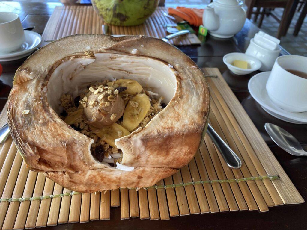 Kasagpan museli breakfast, Petit déjeuner sain, Kasgpan resort, Bohol