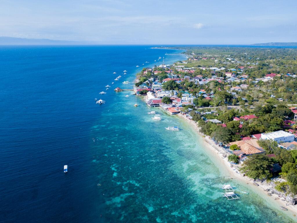 Panagsama Beach, drone view, Moalboal