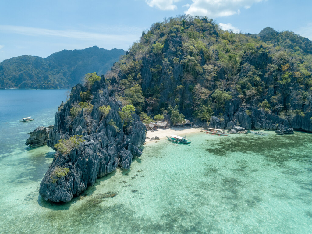 Smith beach, Coron, private island hopping, drone