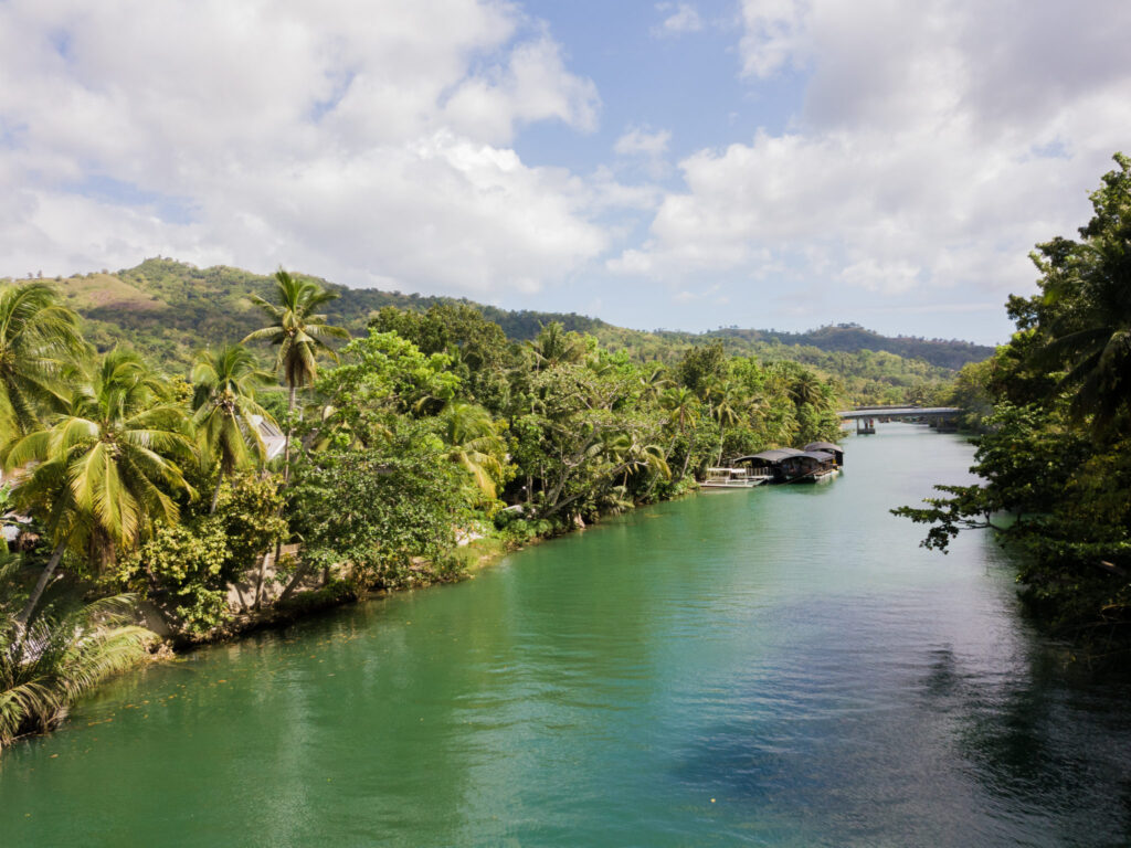 Loboc river, drone