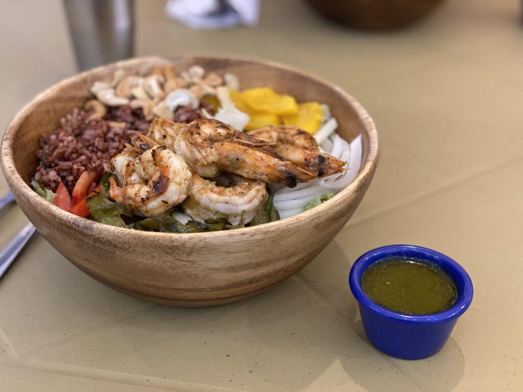 healthy bowl, prawns at Kulay Bowls