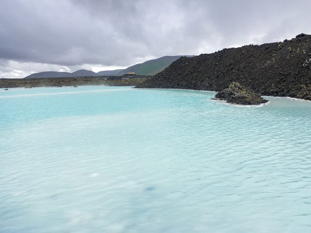 The Blue Lagoon with its famous light blue - milky colour