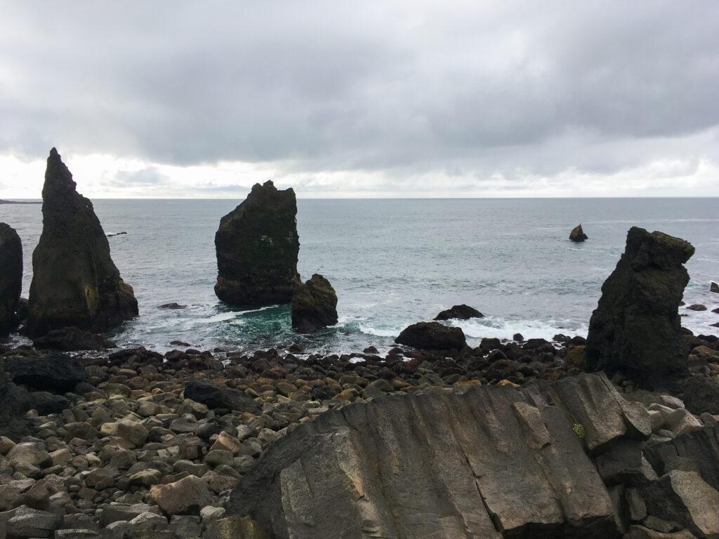 Falaise de Valahnúkamöl - littoral ) Reykjanes peninsula