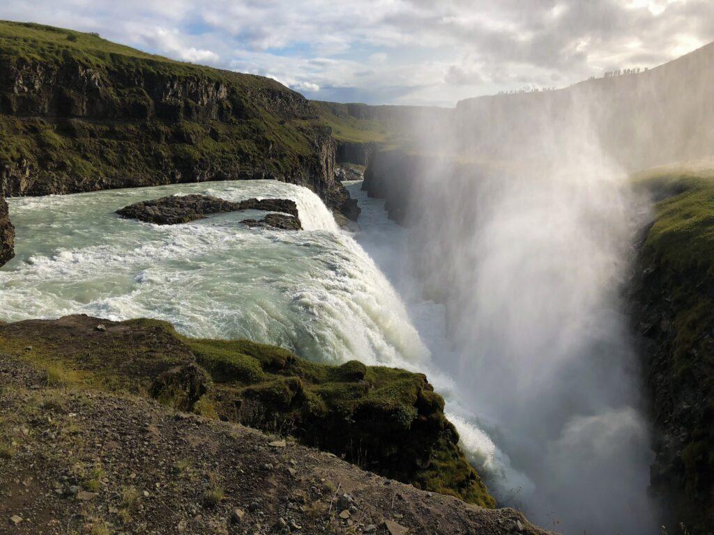 Gullfoss waterfall - impressive waterflow