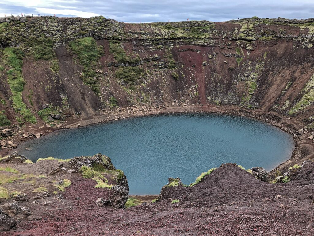 Kerið - view from the top of the crater - Iceland