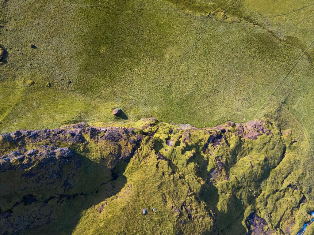 Paysage islandais magnifiques avec le drone