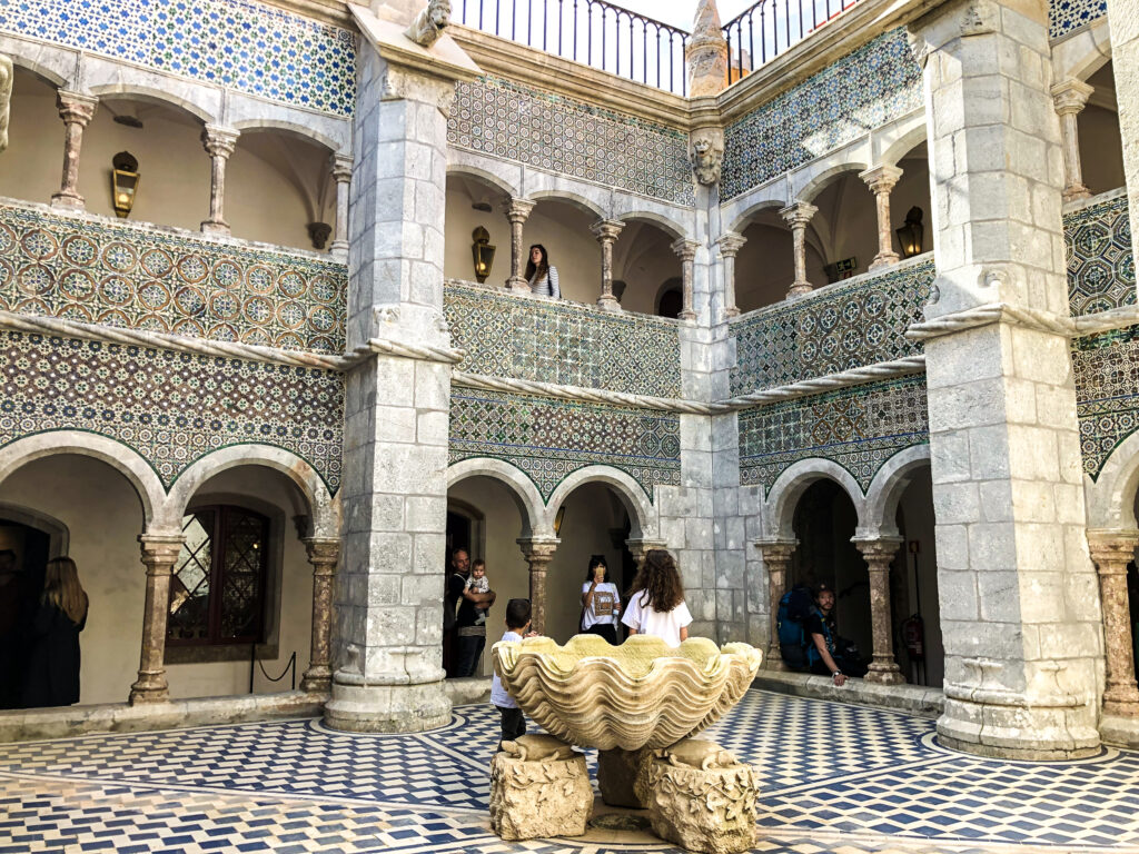 Luxurious hall inside the Palace  - Sintra