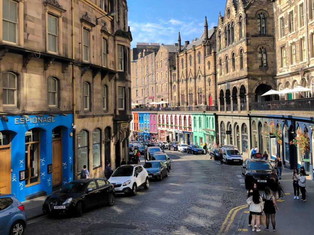 La rue Victoria Street - Edimbourg