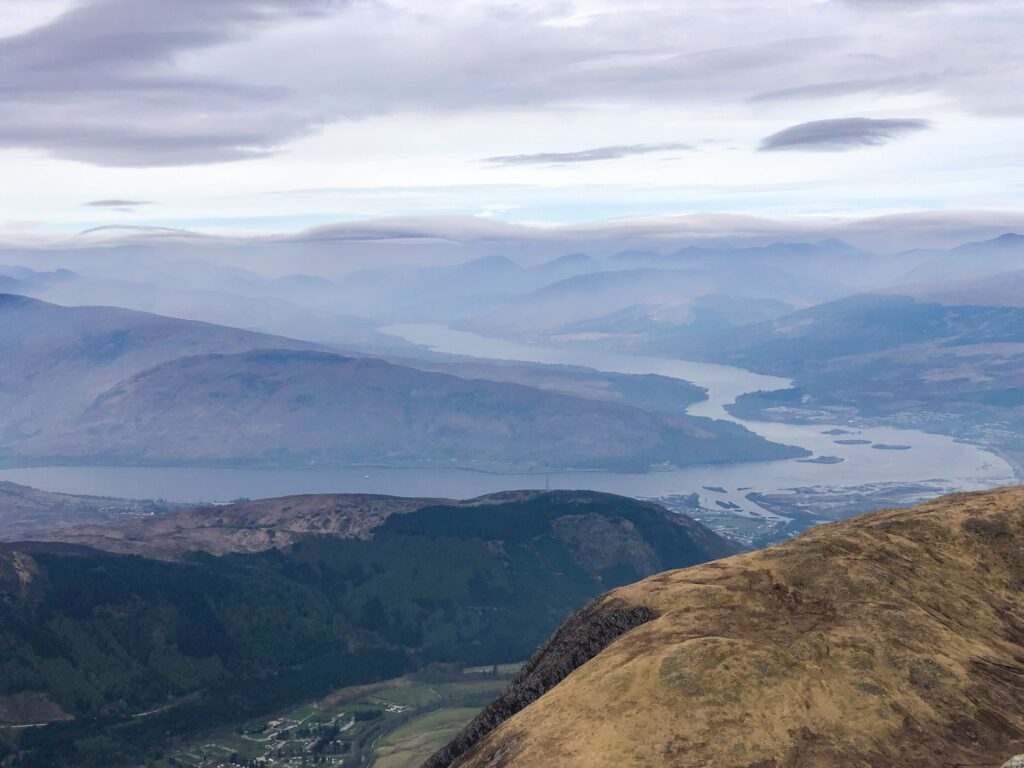 Beautiful views on the way up to Ben Nevis - Scotland