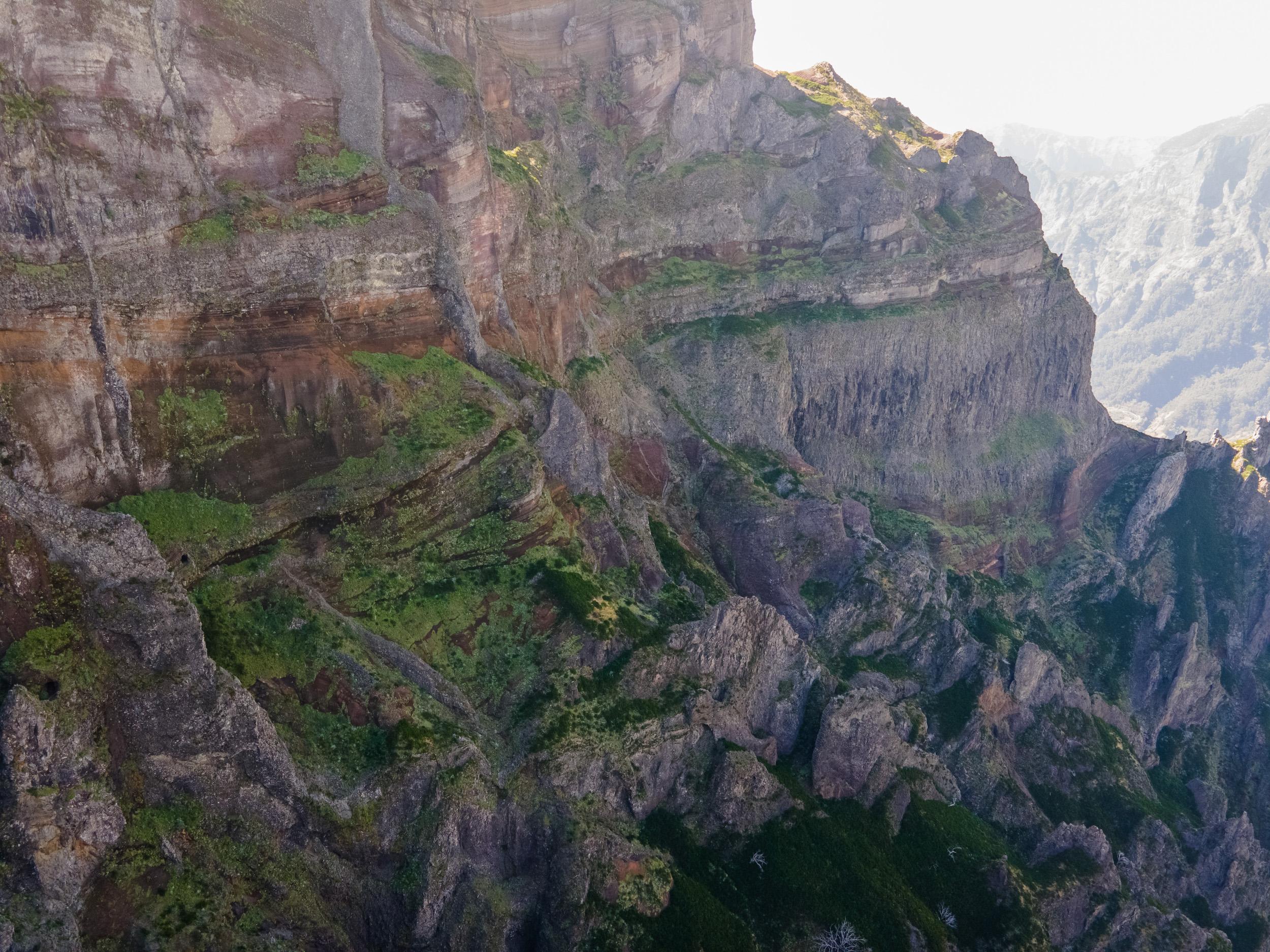Vue entre Pico do Arieiro et Pico das Torres