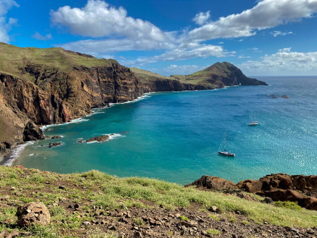 Vue sur la presqu'île de Ponta de São Lourenço